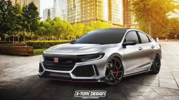 В сеть выложили рендер «заряженного» Honda Insight Type R