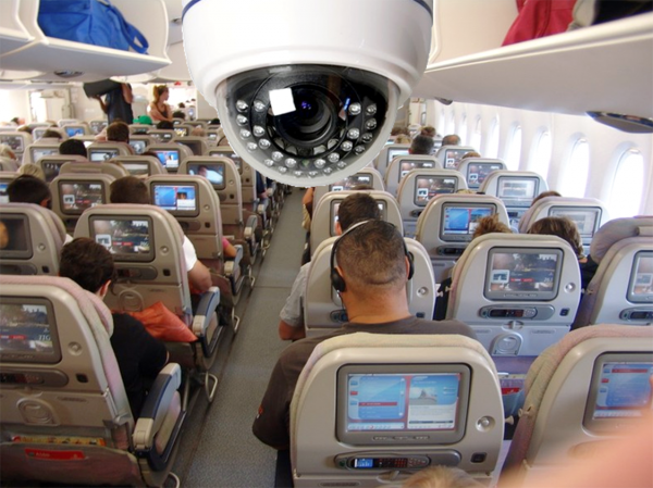 В салоне самолета пьяная пара занималась оральным сексом