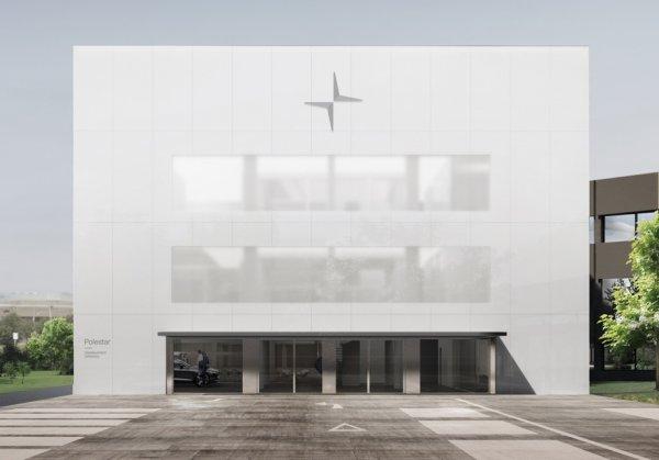 Штаб-квартиру Polestar выполнят в виде огромного белого куба