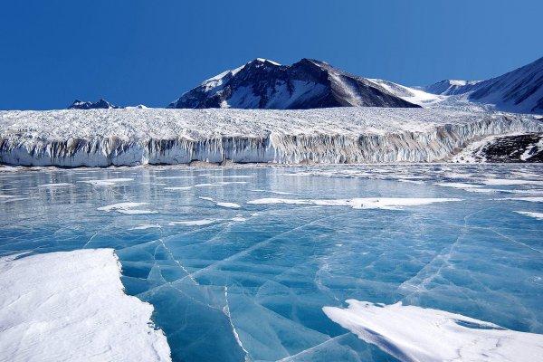 На месте падения самолета в Антарктиде появилось неизвестное пятно