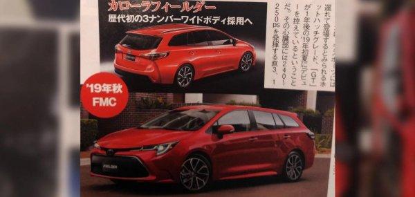 Новые Toyota Corolla Axio и Fielder рассекречены на фото