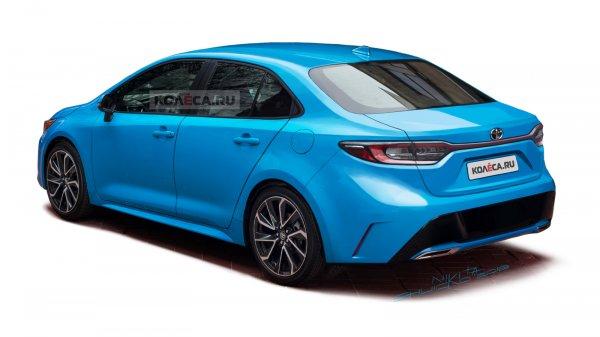 В сети опубликовали первые рендеры нового седана Toyota Corolla