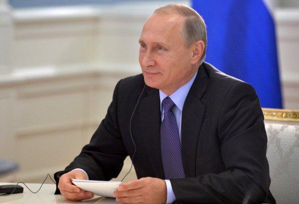 Путин приветствует участников Дельфийских игр