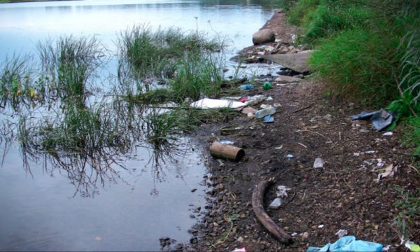 Реку в Словакии «оккупировал» мусор из Украины