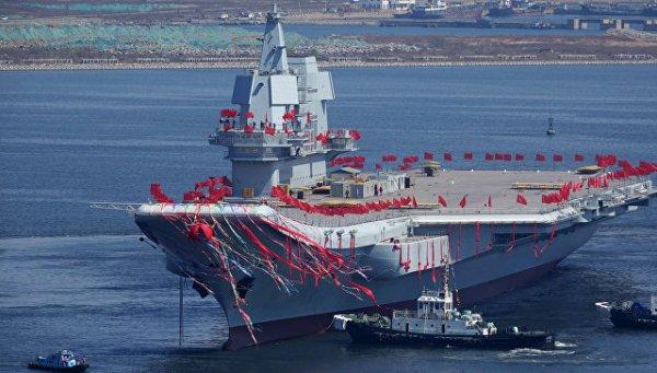 Китай проводит тестирование авианосца собственной разработки