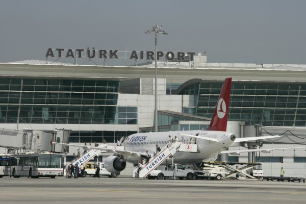 На видео попало столкновение двух самолетов в Стамбуле