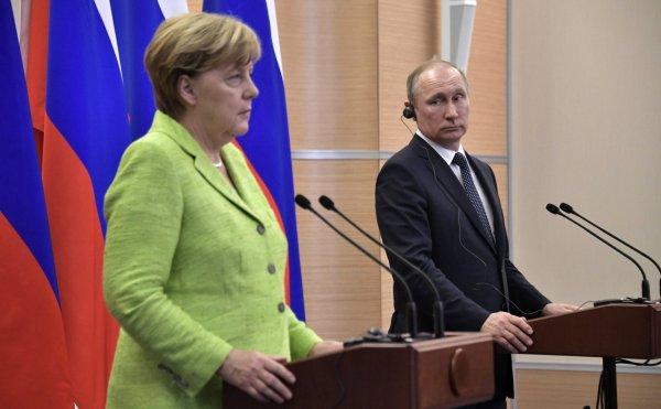 Меркель рассказала о целях встречи с Путиным в Сочи