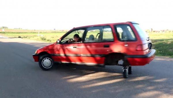 Полноприводный Honda Civic превратили в бешеную тележку