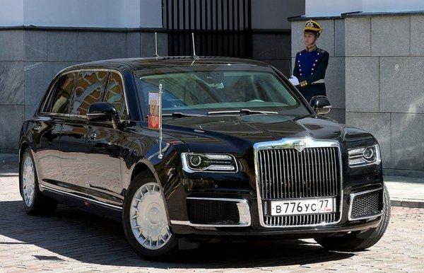 Лимузин Aurus Senat из «Кортежа» оснащается грузовыми шинами