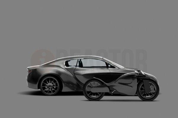 «Бэтмобиль» по-русски: Опубликованы рендеры автомобиля со встроенным мотоциклом
