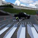 Экспериментальная 3D-«зебра» в Казани напугала водителей и гаишников