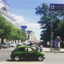 Ростовчане запечатлели автомобиль любителя свежей травки