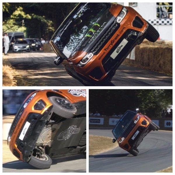 Range Rover Sport SVR прошел трассу Гудвуда на двух колесах