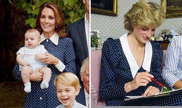 Кейт Миддлтон скопировала образ принцессы Дианы на семейном фото