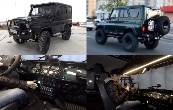 «Комфортный гигант»: Тюнингованный УАЗ «Хантер» за 3,3 млн рублей показал блогер