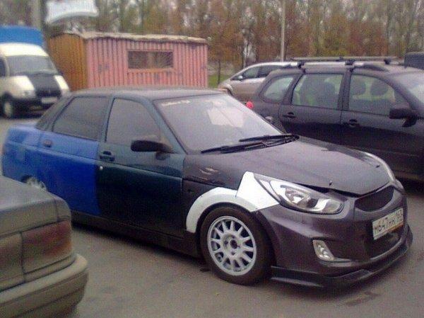 Hyundai Desyatka: «Скрещенный» с «Солярисом» ВАЗ-2110 высмеяли в сети