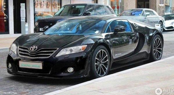 «Ей это к лицу»: Тюнинг Toyota Camry в духе Bugatti «взорвал» сеть