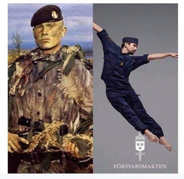 От викингов до гомосексуалистов: Армия Швеции показала новые агитационные плакаты