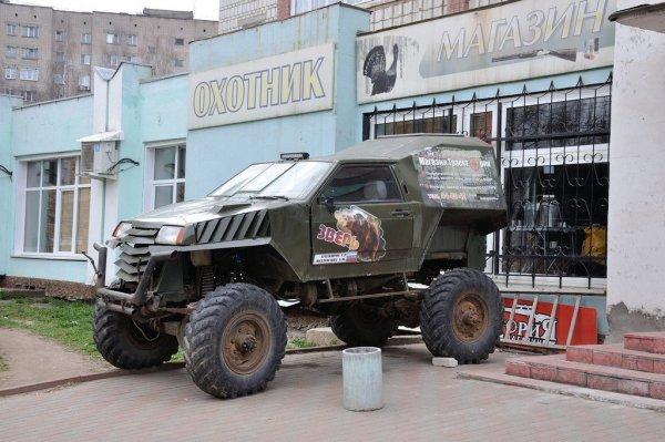 С таким монстром можно забыть и о «Крузаках»: В сети показали внедорожник, полученный в результате симбиоза ВАЗ-2108 и ГАЗ-66