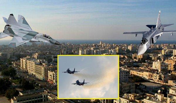 Российские истребители замечены в Ливии